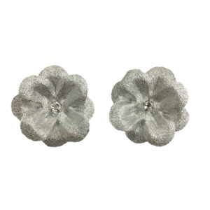 15 peach silk flower clips set of 2 ms schmalberg 15 silver silk flower clips set of 2 mightylinksfo