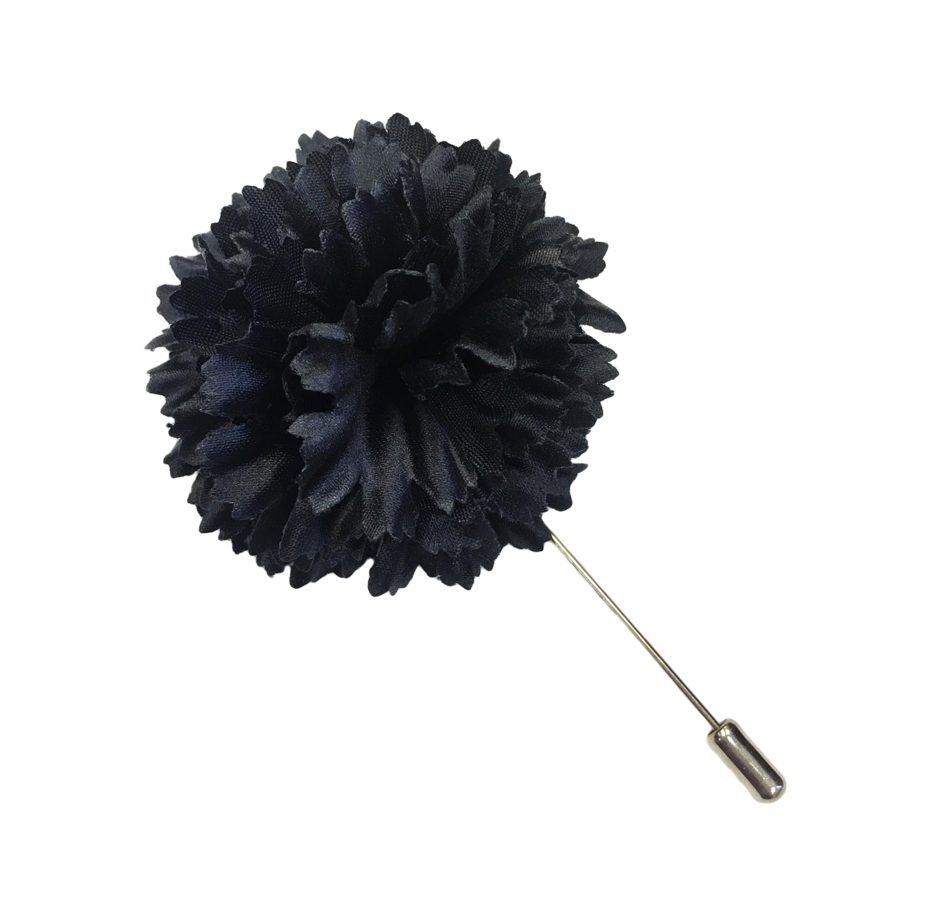 2 navy silk satin carnation lapel pin ms schmalberg 2 navy silk satin carnation lapel pin mightylinksfo