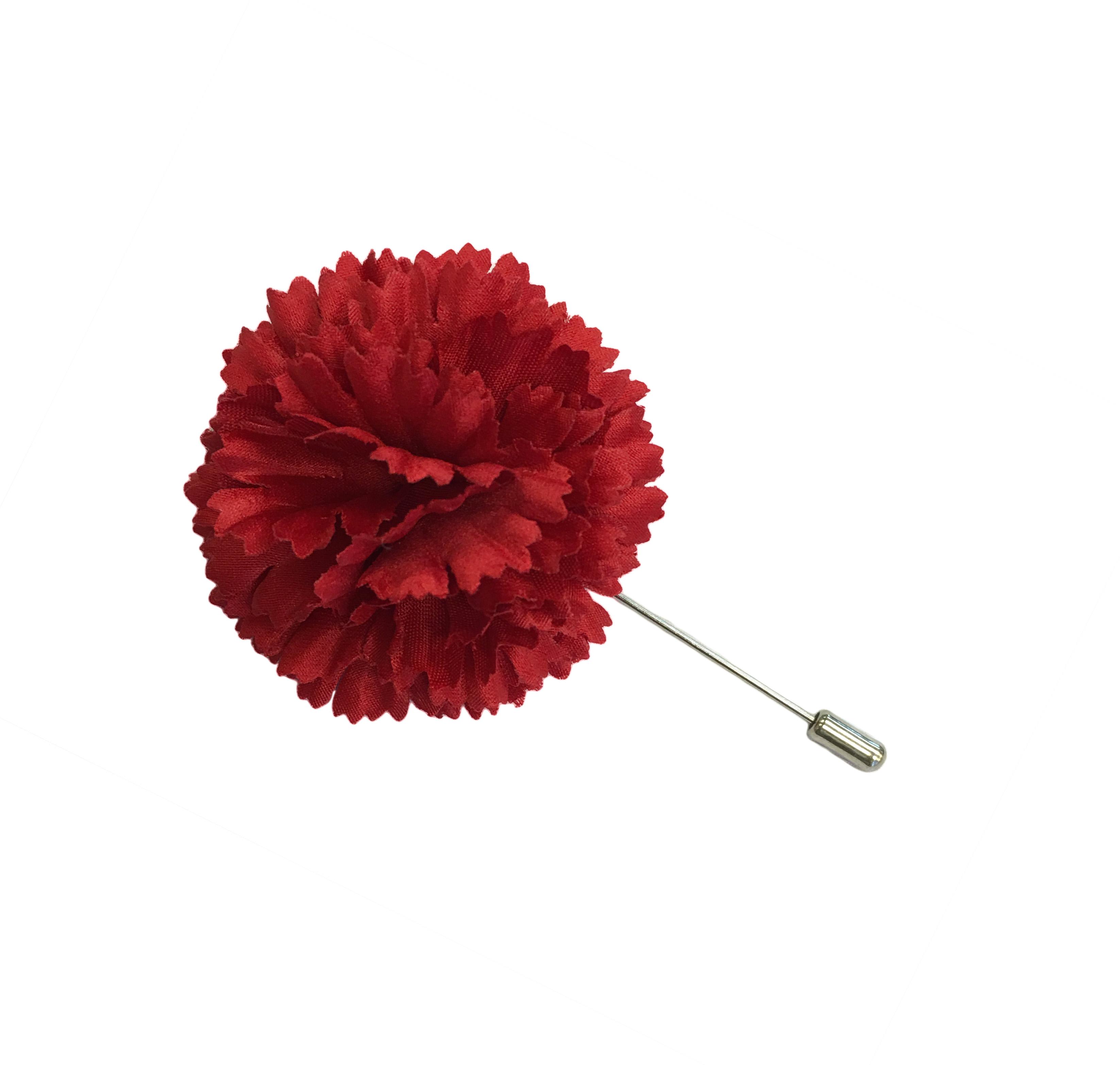 2 Red Silk Satin Carnation Lapel Pin Ms Schmalberg