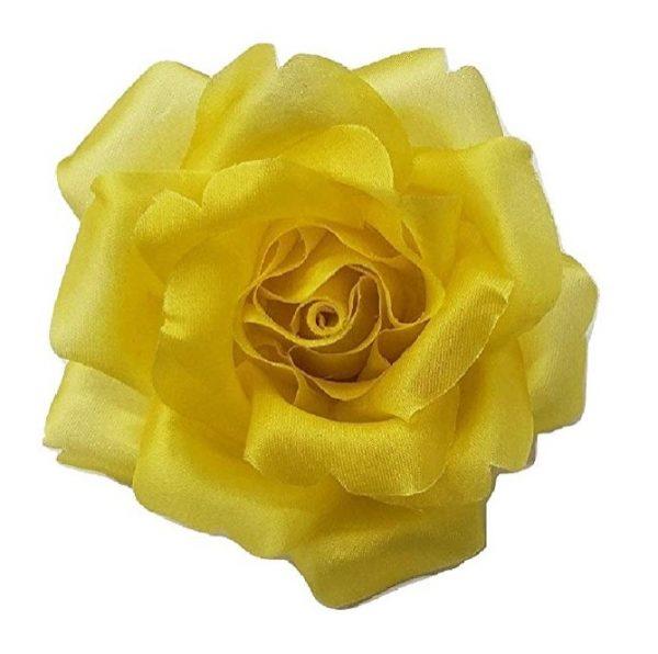 yellow silk rose flower