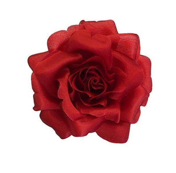 red silk rose