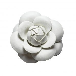 white leather camellia