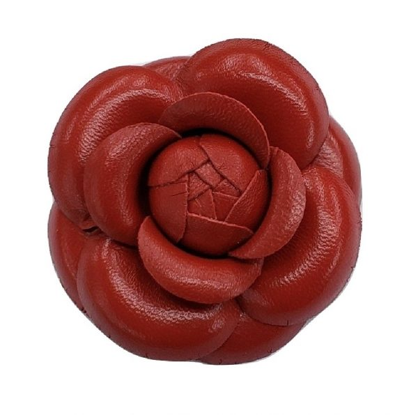 red leather camellia
