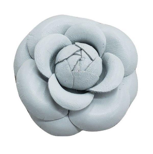 white leather camellia